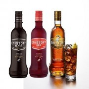 Vodka Eristoff Colours: Golden Red and Black