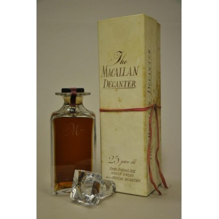 Macallan 25 años Old Decanter 1964, Cristal Tudor